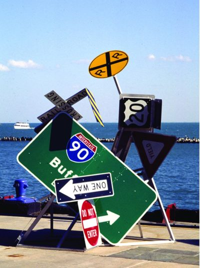 Directing Trafic traffic Signs, Steel, electric motor 60